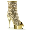 DELIGHT-1008SQ Gold Glitter/Chrome